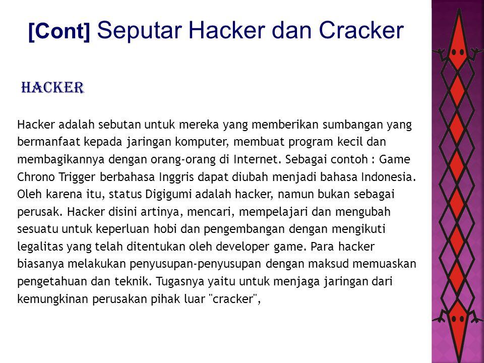 [Cont] Seputar Hacker dan Cracker
